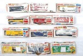 12 Lionel Freight Cars 9279, 9317, 9235, Etc.