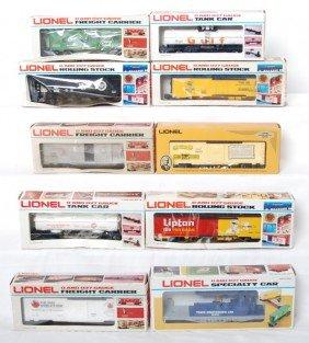 10 Lionel Freight Cars 9868, 6110, 9885, Etc