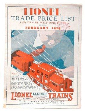 Lionel Prewar Trade Price List From 1929