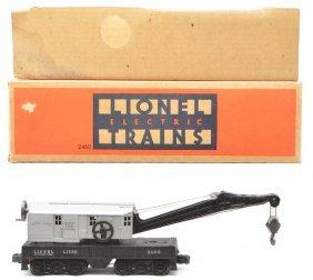 Lionel 2460 Work Crane W/Gray Cab LN OB