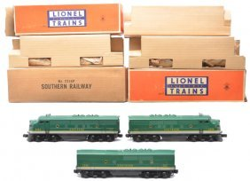 Lionel 2356P/C/T Southern F3 ABA Diesels OBs