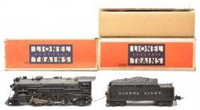 Lionel 225E Black Loco 2235W Tender OBs