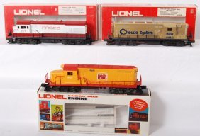 3 Lionel Diesel Locomotives 8359, 8160, 8571