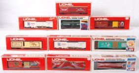 10 Lionel Tobacco And Alcohol Freight Cars 9858, 77