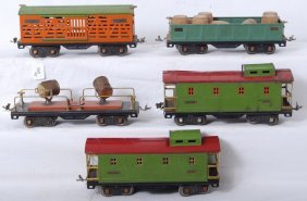 Lionel 512, 513, 517, 517, 520 Freight Cars