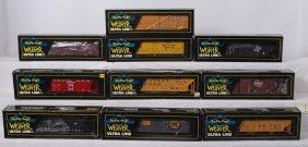 10 Weaver Freight Cars GB&W, Mil, CNW, Etc