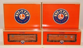 6 Lionel Steel Side Reefers Santa Fe And PFE