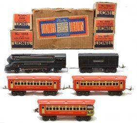 Lionel Litho Red/Cream Pass Set No. 1074W LN OBs
