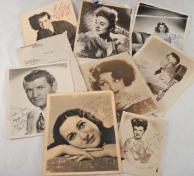 Lot Of (8) Autographed Portraits