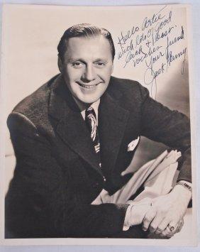 Autographed 8x10 Jack Benny