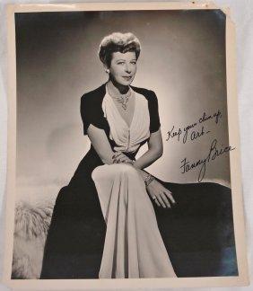 Autographed 8x10 Fanny Brice