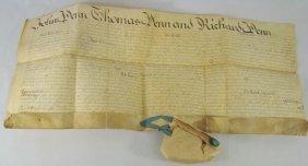 1682 Vellum Indenture