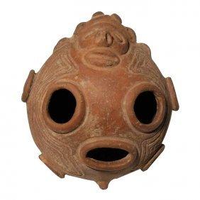 Pre-columbian Taino Deity Vessel
