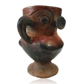 Pre-columbian Cocle Owl Chalice