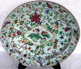 LARGE EARLY CHINESE EXPORT PLATTER,