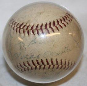 Circa 1960s New York Yankee Game Ball,