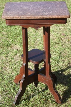Victorian Walnut Lamp Table With