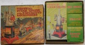 Marx Vertical Steam Engine With Accessories
