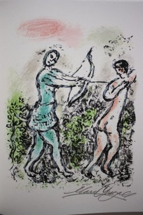 Exquisite M Chagall Original Signed Litographs Odyssey