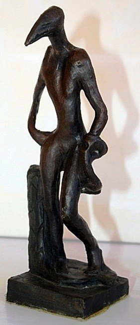 S Dali Captivating Original Ltd Edition Bronze Birdman
