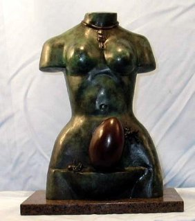 Rare Salvador Dali Original Bronze - Birth Of The Venus