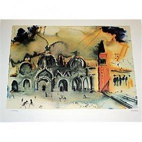 Exquisite Salvadore Dali Lithograph - Venice Signed