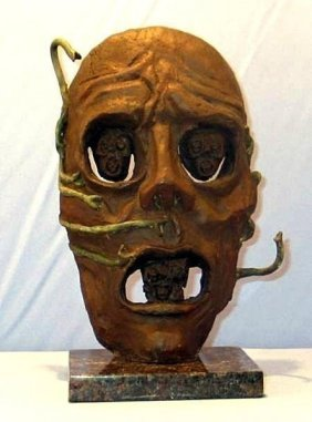 Exceptional ( The Mask ) Salvador Dali Signed