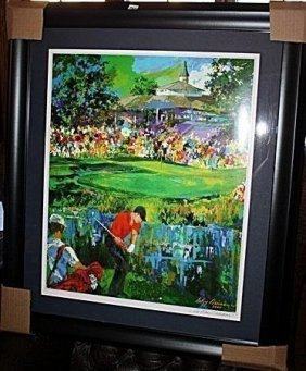 Leroy Neiman Double Signed Lithograph - Valhalla, Pga
