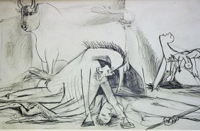 Pablo Picasso Offset -1st.mai.37 Study # 1 Guernica Coa