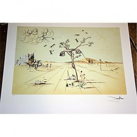 Exquisite S Dali Lithograph - Disembodied Telephone