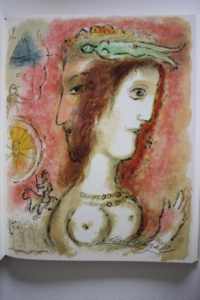 Exquisite M Chagall Original Signed Litographs Odysse