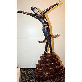 Signed Phillipe Bronze And Ox Bone - Dancer