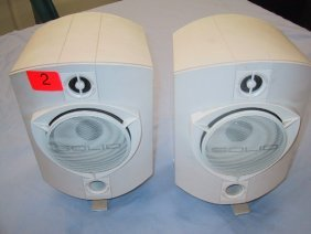 "Set Of Two Solid 4"" Speakers, 150 Watts Ma"