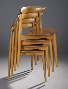 Hans J. Wegner Stacking Chairs, Fritz Hansen #4103