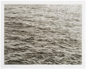 Vija Celmins, Untitled (ocean With Cross #1)