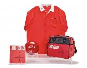 Mike Kelley, Bowling Ball, Bag, Shirt, And Catalogue