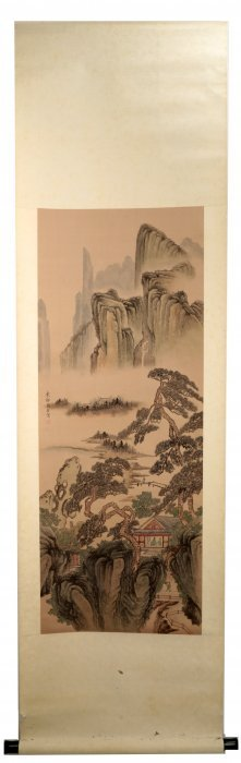 Signed Zhou Chengfang. A Ink And Color On Silk Hanging