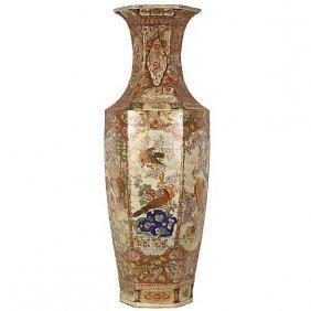 A Rare Monumental Japanese Satsuma Porcelain Decorative