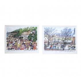 Pair Of Signed Prints By Mark Mcmahon