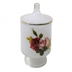 Painted Glass Candy Container