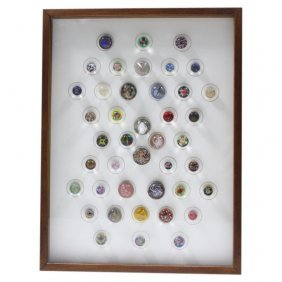 42 Piece Collection Of Glass Buttons