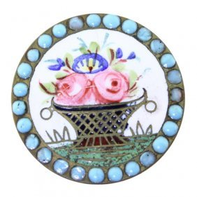 Painted Raised Enamel Button