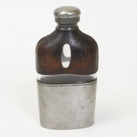 Glass & Leather Hip Flask
