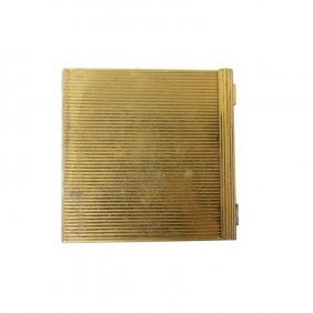 Vintage Volupte Gold Tone Compact