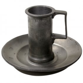 Vintage Pewter Cup & Non Matching Plate