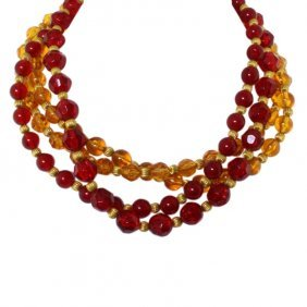 Givenchy Multi Strand Beaded Necklace