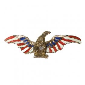 Chanel Enamel Painted Bird Brooch