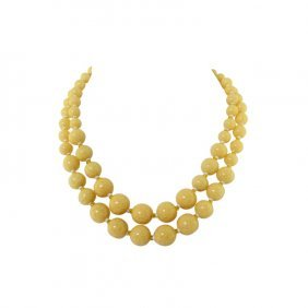 Vintage Miriam Haskell Double Strand Necklace