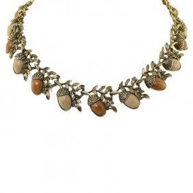 Acorn Theme Costume Necklace