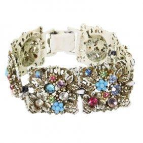 Vintage Rhinestone Bracelet By Art